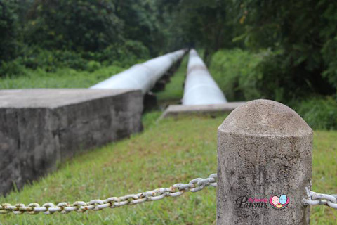 water pipes to PUB pumping station at Kranji marshes park