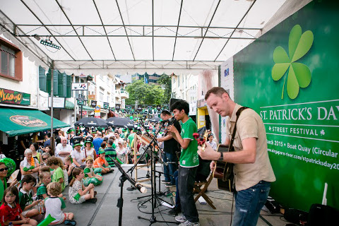 St Patrick's Day stage performance