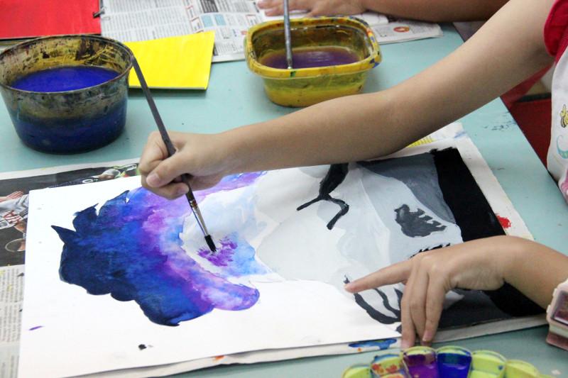 different art techniques for kids
