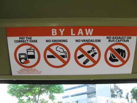 bad behaviours on public buses