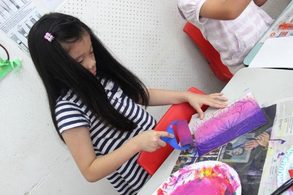 children engage in craft activities at Crestar