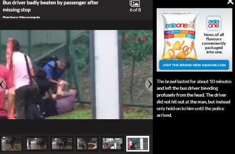 passenger physically assaulting a bus captain