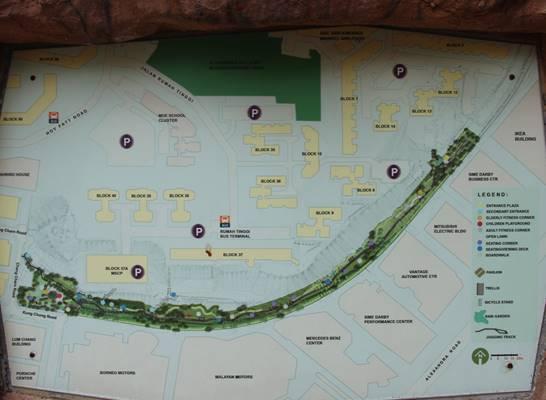 map of rumah tinggi eco park