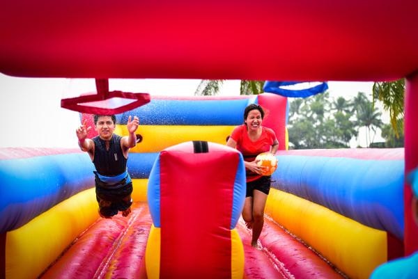 Bungee Run challenge sentosa funfest