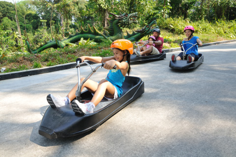 Sentosa skyline Luge Jun holiday