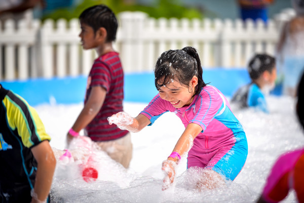 bubble play at Sentosa Funfest