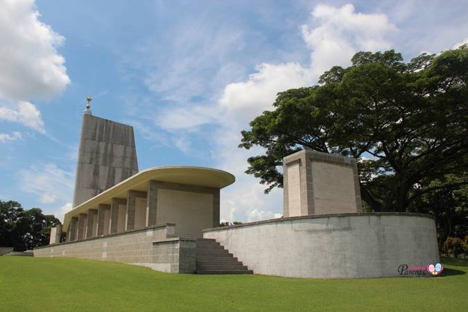 central architectural structure at the Kranji War Memorial