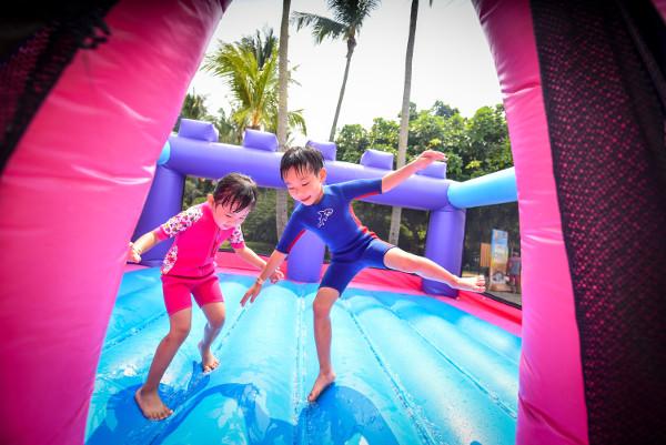 children having fun at Funfest 2016