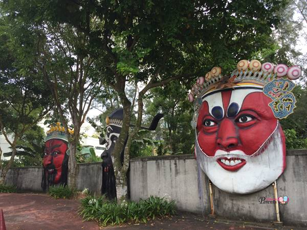huge opera face mask at Haw Par Villa Singapore