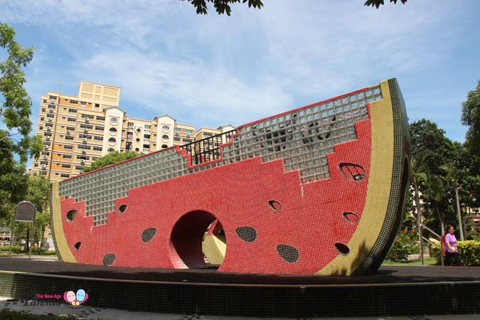 special design playground at tampines park singapore