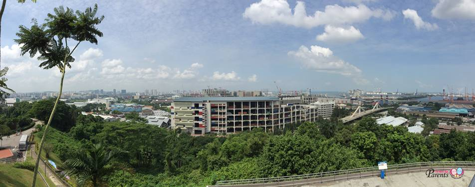birds eye view of jurong shipyard from jurong hill
