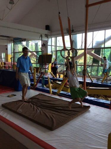 children exercising in bazgym