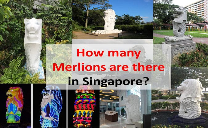 how many merlions are there in Singapore