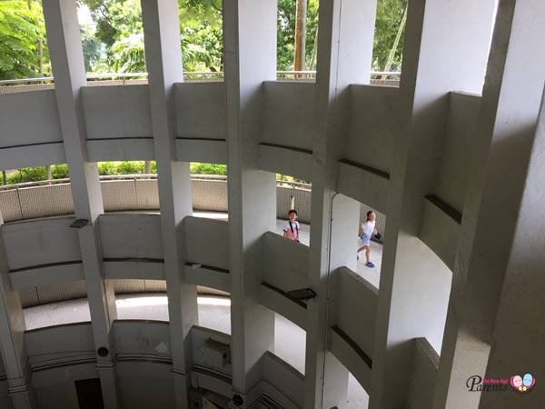 inside of spiral lookout tower jurong hill