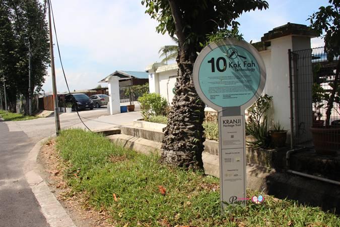 kok fah farm singapore kranji heritage trail marker