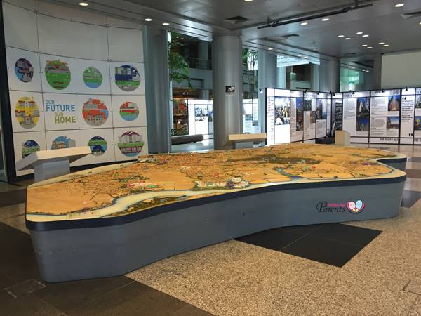 map of singapore at city gallery singapore URA