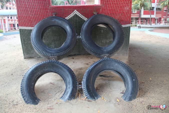 rubber tyres on junk boat playground singapore