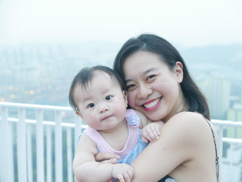 Motherhood in your 20s - Evelyn Chen and her baby