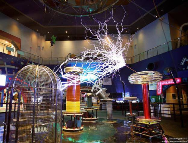 Science Centre Singapore's very own musical tesla coil