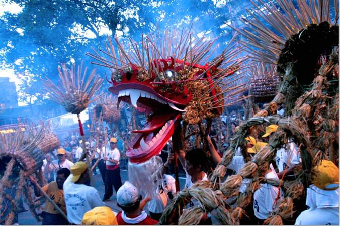 Straw Fire Dragon Dance