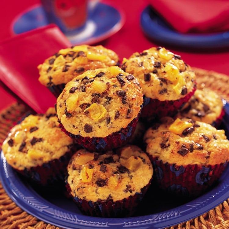 Zespri Kiwifruit Choc Gold Muffins