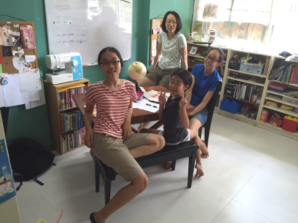 Homeschooling Mums In Singapore - Linda and her kids