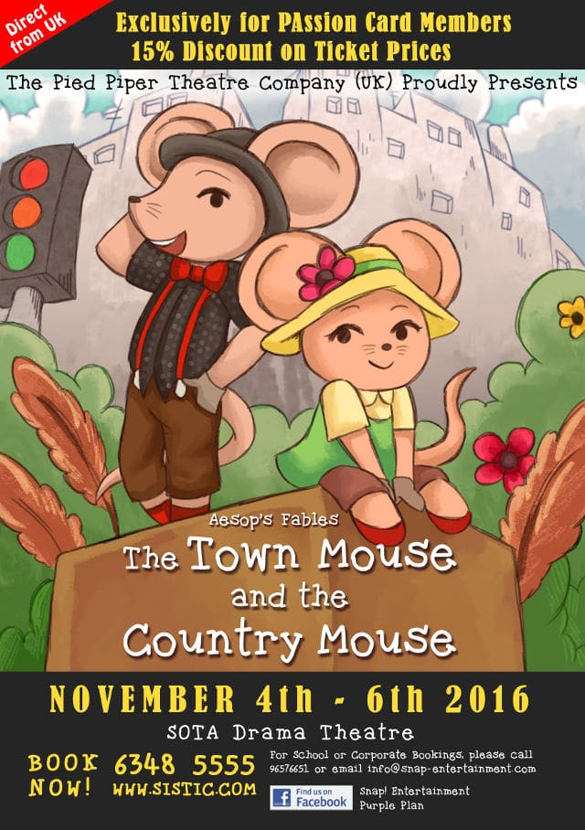 aesop fables town mouse and city mouse snap entertainment