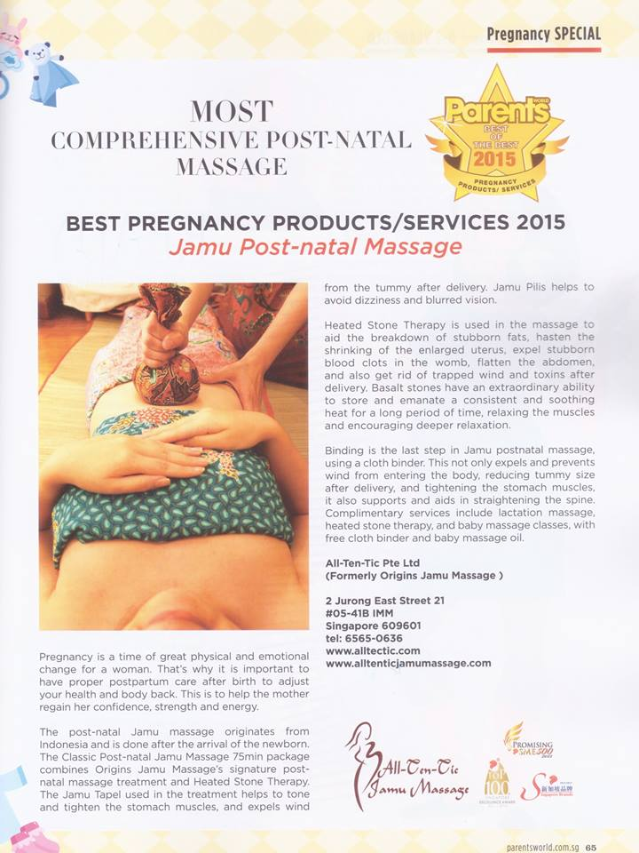 parent world massage award