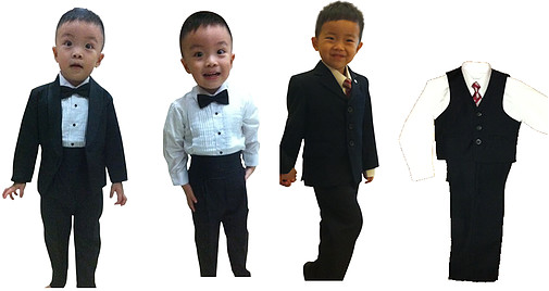 My Little Tux - suit rental for boys