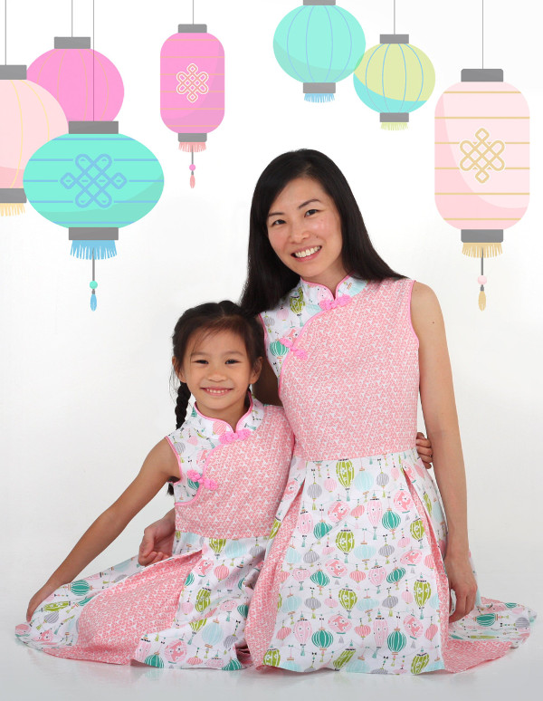 baby pixie cheong sam for girls and mothers
