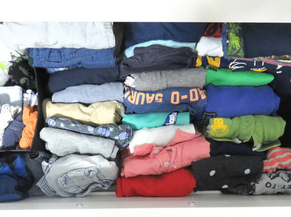 declutter your home packing kids clothes