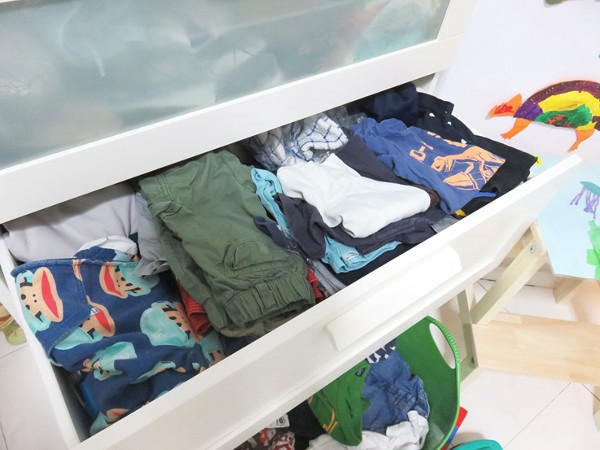 declutter your home storing kids clothes