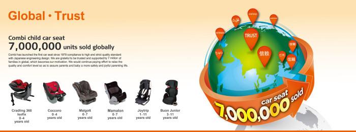 Combi baby car seats
