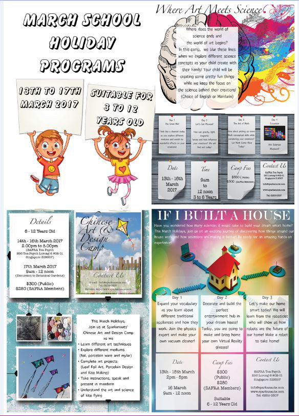 sparkanauts March Holiday Programme 2017
