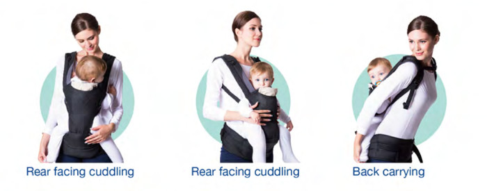 Combi Foldable Hip Seat Carrier - Different ways to carry your baby
