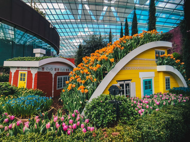 Quaint little town at Tulipmania at Gardens by the Bay