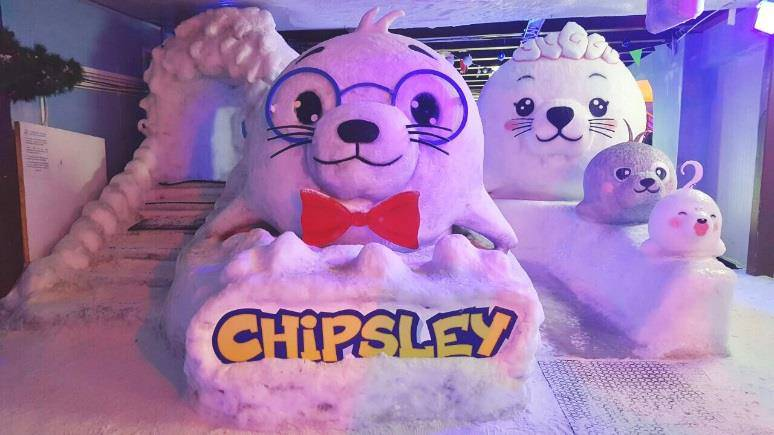 Chipsley snow sculptures at Snow City Singapore