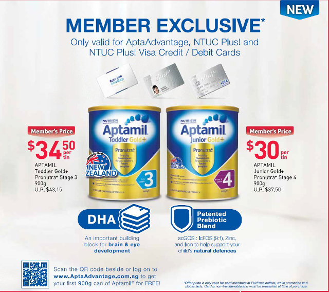 aptamil ntuc members card discounts 2017