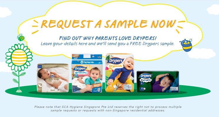 free drypers samples