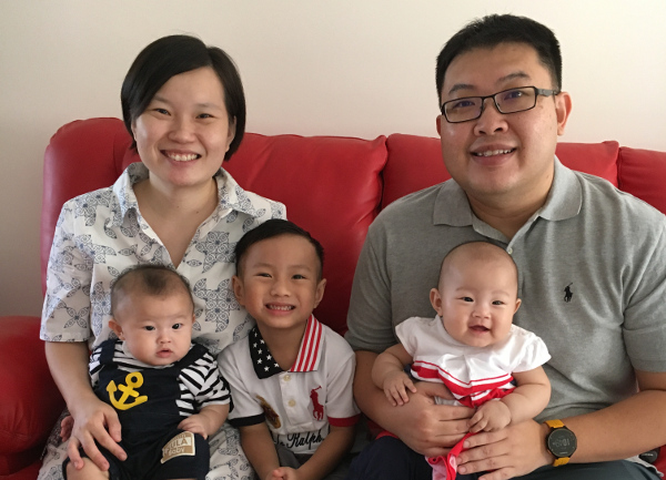 mother IVF journey Adeline Tan and family