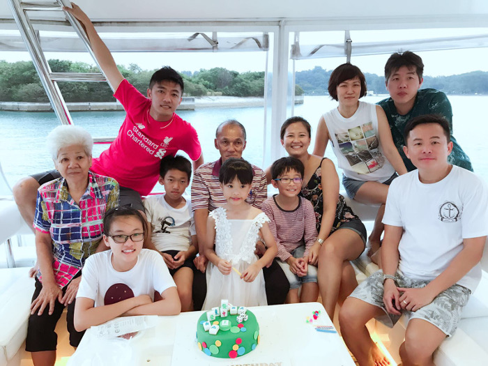 Single Father Eric Kwek Family Celebration