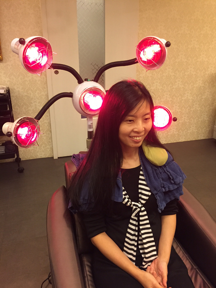 Treatment for aging hair TrichoKare infrared therapy light