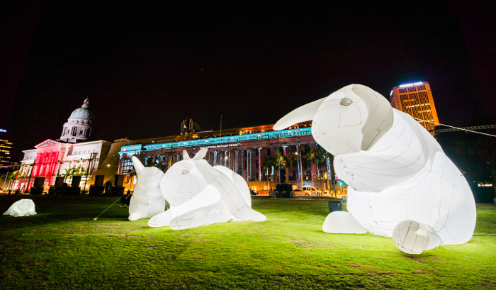 Civic District Outdoor Festival - Giant bunnies Intrude