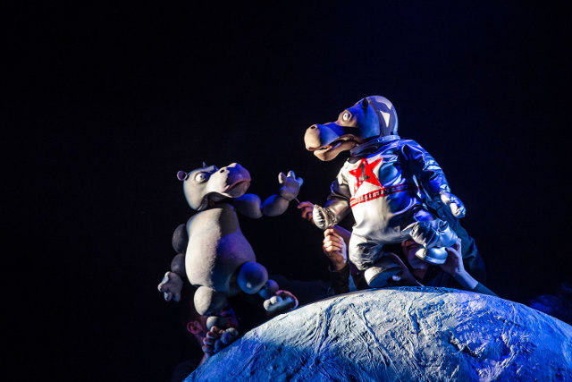 Les Petits Theatre Company The First Hippo on the Moon live on stage