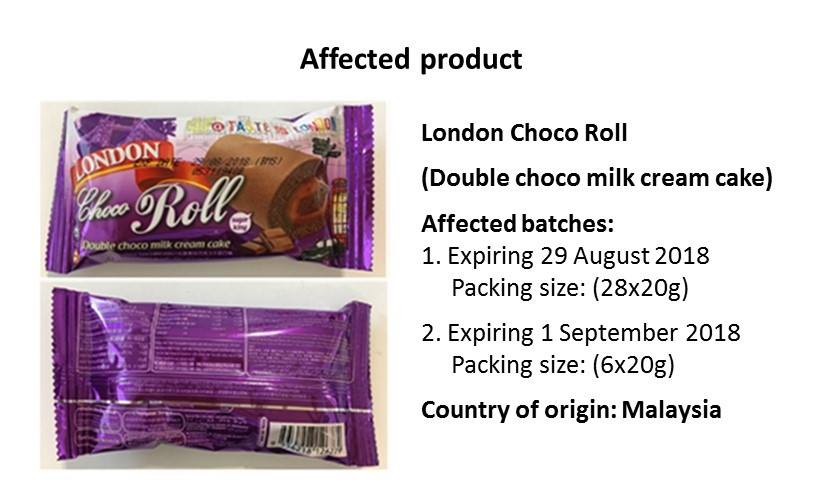 london choco roll recall