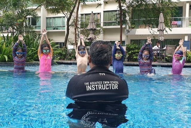 The Aquatics Swim School Singapore Kids swimming lessons