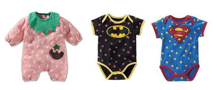 cute themed romper onesies for babies