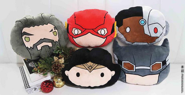 DC JUSTICE LEAGUE Chibi Character Plush Cushion