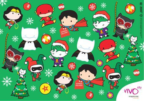 JUSTICE LEAGUE Chibi Character Stickers