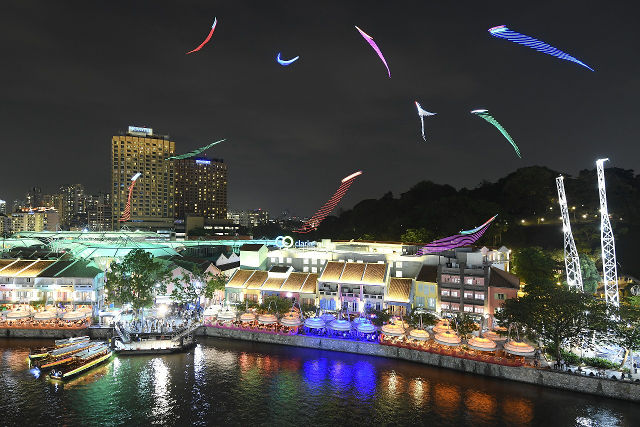 singapore river festival night view